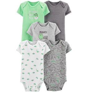 Baby Boy 5 Pack Dinosaur Bodysuits